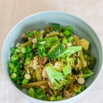 Плов из овощей с рисом