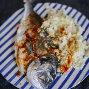 Рыба с рисом из капусты