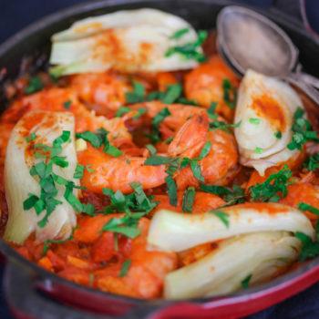 марокко креветки с фенхелем